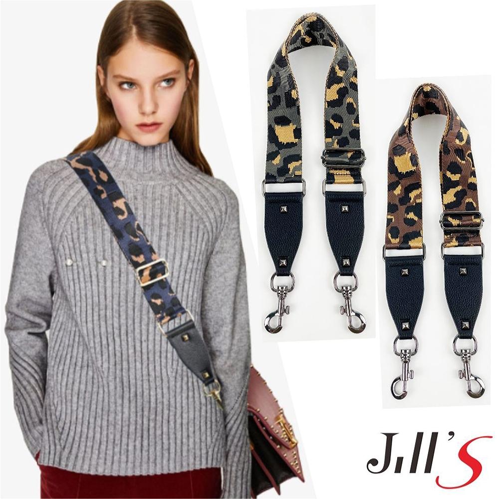 Jills 時尚經典豹紋背帶 共五色