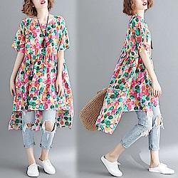 【韓國K.W.】日本設計花朵上衣