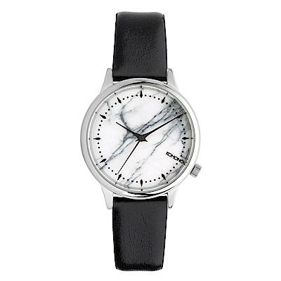 KOMONO Estelle Marble 黛兒大理石紋系列腕錶-皓月白/36mm