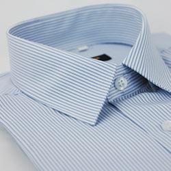 金‧安德森 藍色條紋吸排長袖襯衫