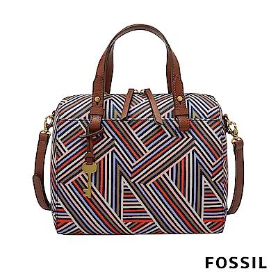 FOSSIL RACHEL 手提+側背兩用波士頓包-繽紛條紋