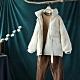 腰間抽帶收褶立領羊羔絨拼接棉服寬鬆夾棉棉衣外套-設計所在
