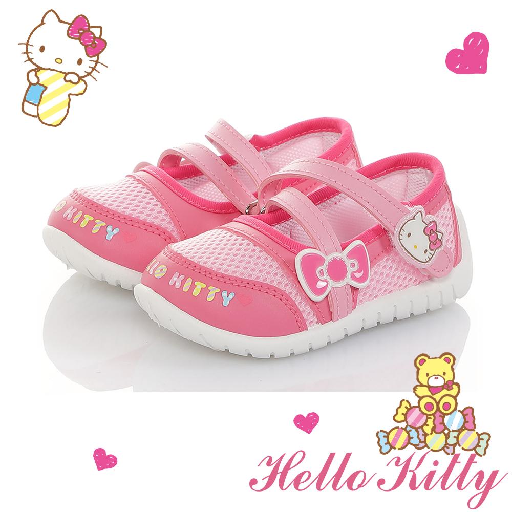 HelloKitty童鞋 輕量透氣減壓抗菌防臭室內外娃娃鞋-桃