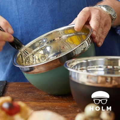 丹麥HOLM 深型不鏽鋼調理盆-3L-兩色可選