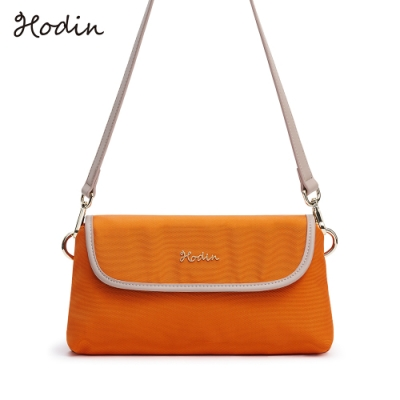 【Hodin】Daily掀蓋雙層小包/斜背包(橘色153026OG)