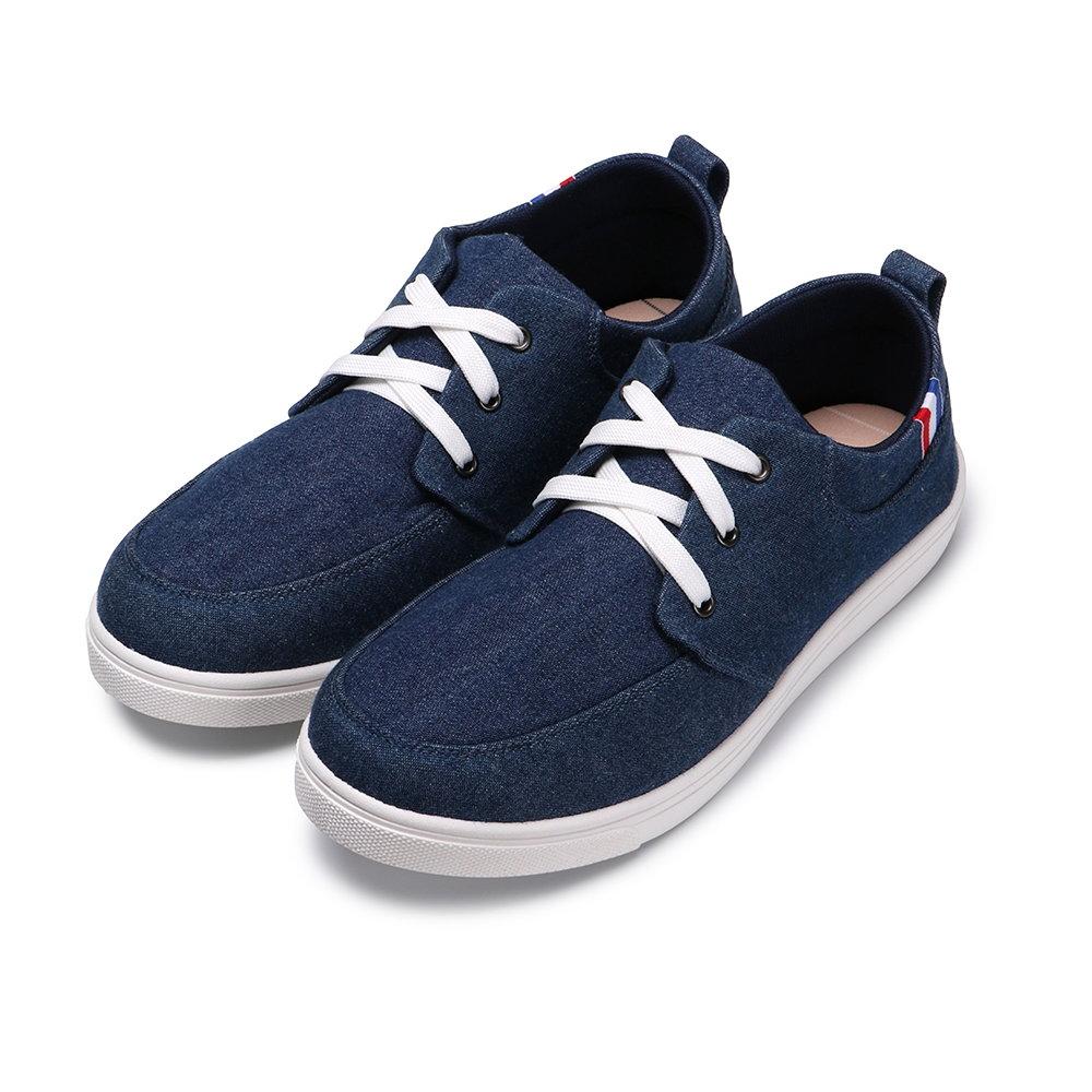 BuyGlasses 率性男孩織帶休閒鞋-藍