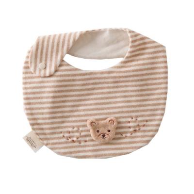 【Amorosa Mamma】有機棉嬰兒圍兜口水巾-小熊