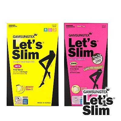 Let s Slim 30D防勾紗 300M壓力加絨提臀瘦腿襪(黑色)(韓國原裝進口)