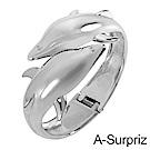 A-Surpriz 流線海豚金屬手環(銀)