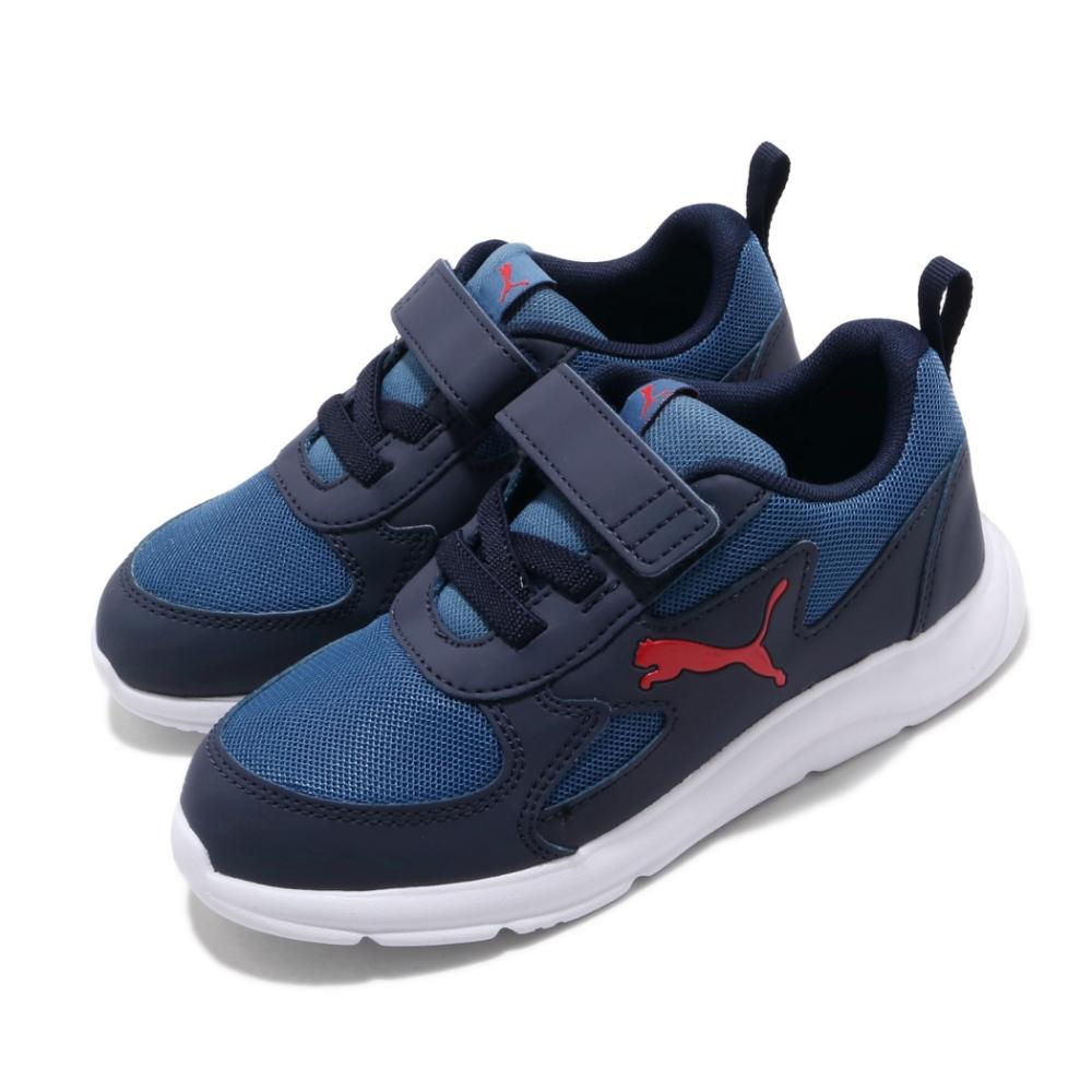 Puma 慢跑鞋 Fun Racer AC 運動 童鞋 輕量 透氣 舒適 避震 輕便 中童 穿搭 藍 白 19297103