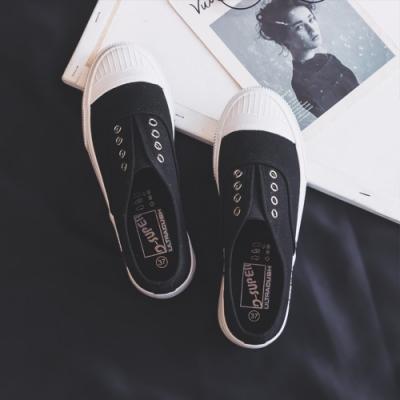 韓國KW美鞋館 女人最大微醺傾心帆布鞋-黑