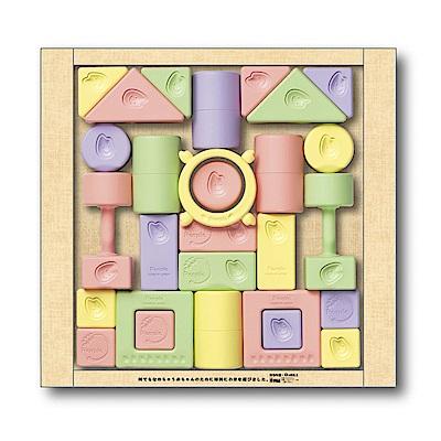 日本製People-彩色米的積木組合(米製品玩具系列)(固齒器/彌月禮)