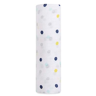 美國idealbaby輕柔新生兒包巾1入-彩點點IB141