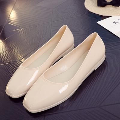 韓國KW美鞋館-高貴氣質閃亮平底鞋-米色