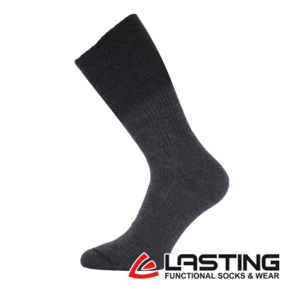 【LASTING捷克】男款美麗諾羊毛抗菌除臭吸濕排汗中筒健行襪LT-WRM深藍