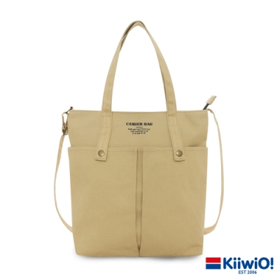 Kiiwi O! 英式經典系列多用帆布托特包 PAG 卡其