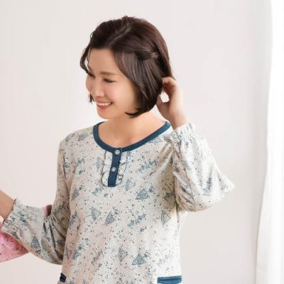 華歌爾睡衣-仕女 M-L 長袖睡衣褲(灰藍)