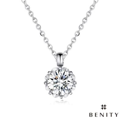 BENITY 熙光 單鑽設計 316白鋼/西德鋼 八心八箭cz美鑽 女項鍊