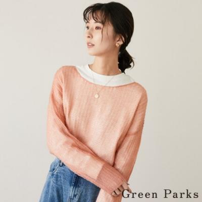 Green Parks 鏤空粗針織特色上衣