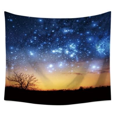 半島良品 北歐風裝飾掛布-星空系列/唯美星空 150x130cm