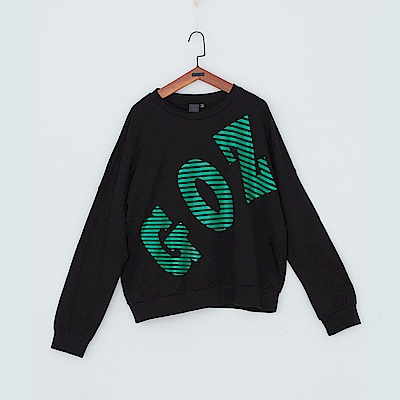 gozo GOZO品牌條碼印字棉上衣二色