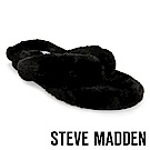 STEVE MADDEN-BUNDLE毛絨絨人字脫鞋-黑色