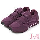 JMS-韓版時尚輕量休閒魔鬼氈球鞋-紫色