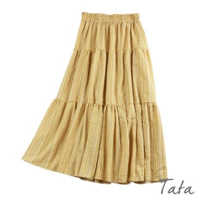 格紋小花刺繡裙 共三色 TATA-F