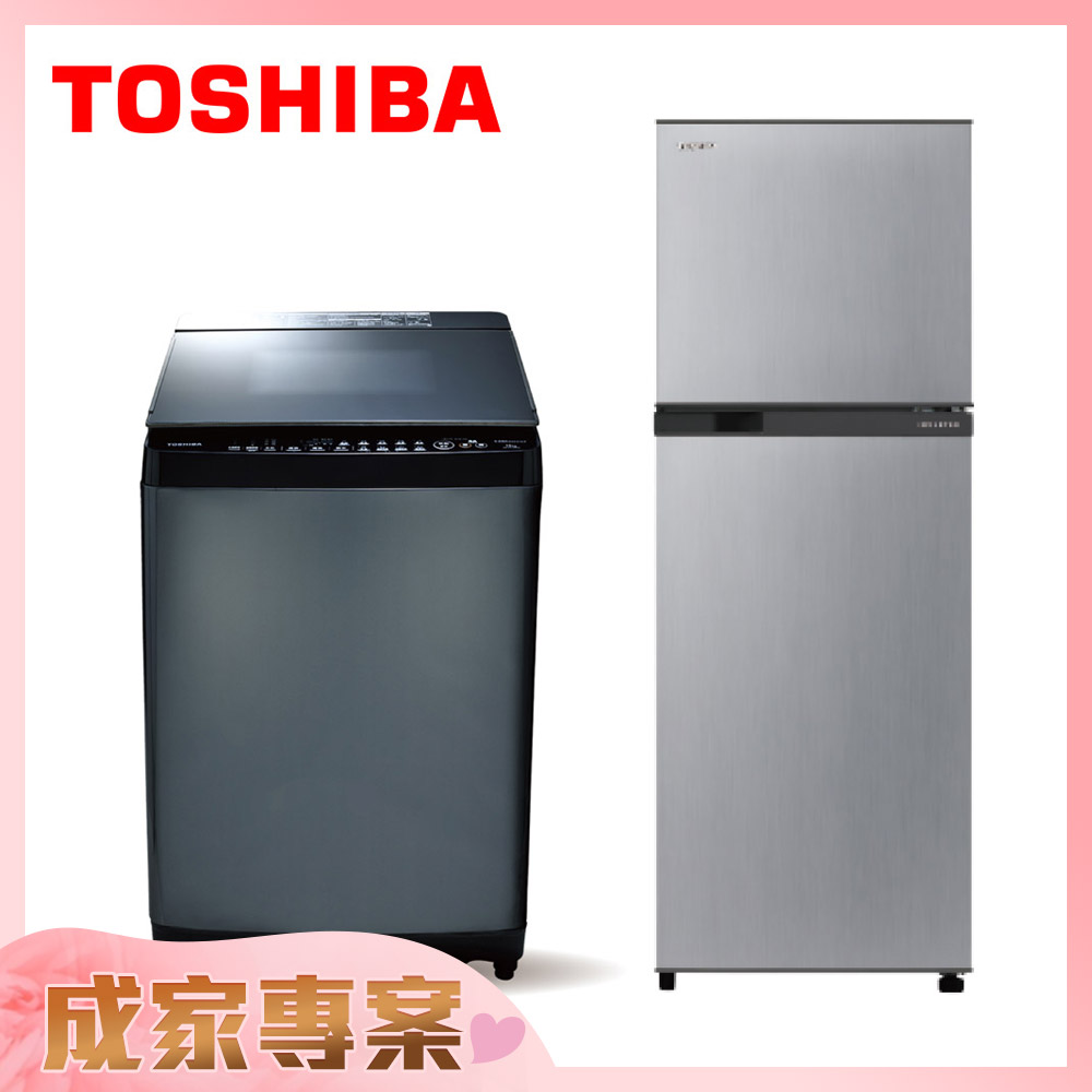 TOSHIBA13公斤洗衣機  AW-DG13WAG+2門電冰箱 GR-A28TS