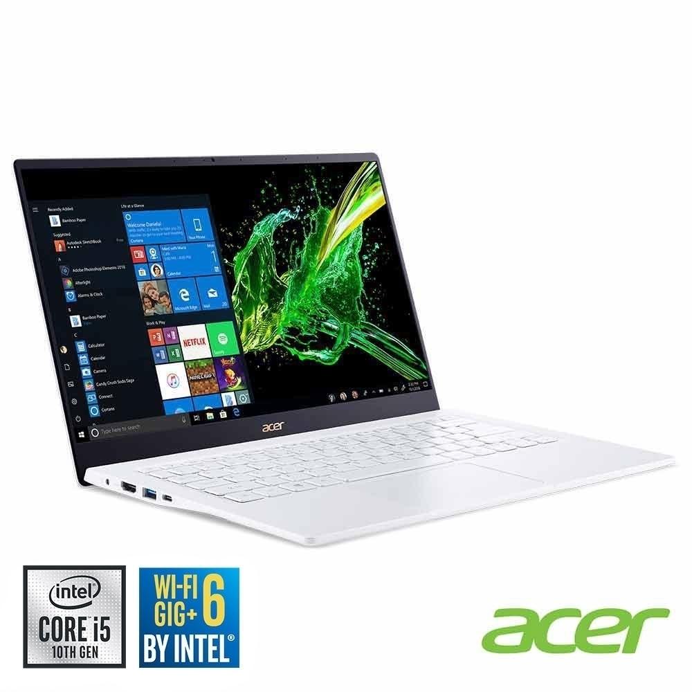(福利品)Acer SF514-54GT-5505 14吋輕薄筆電(i5-1035G1/MX350/8G/512G SSD/Swift 5/白)