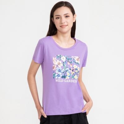 bossini女裝-印花短袖T恤05粉紫