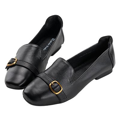 Robinlo 知性小清新百搭柔軟可折平底鞋 黑