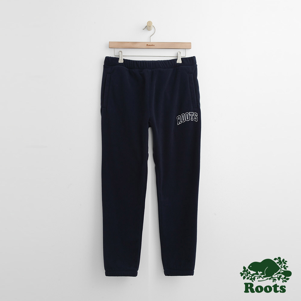 Roots 男裝- 經典棉質長褲-藍