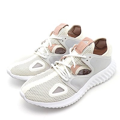 ADIDAS-RUN LUX CLIMA W女跑步鞋-米白
