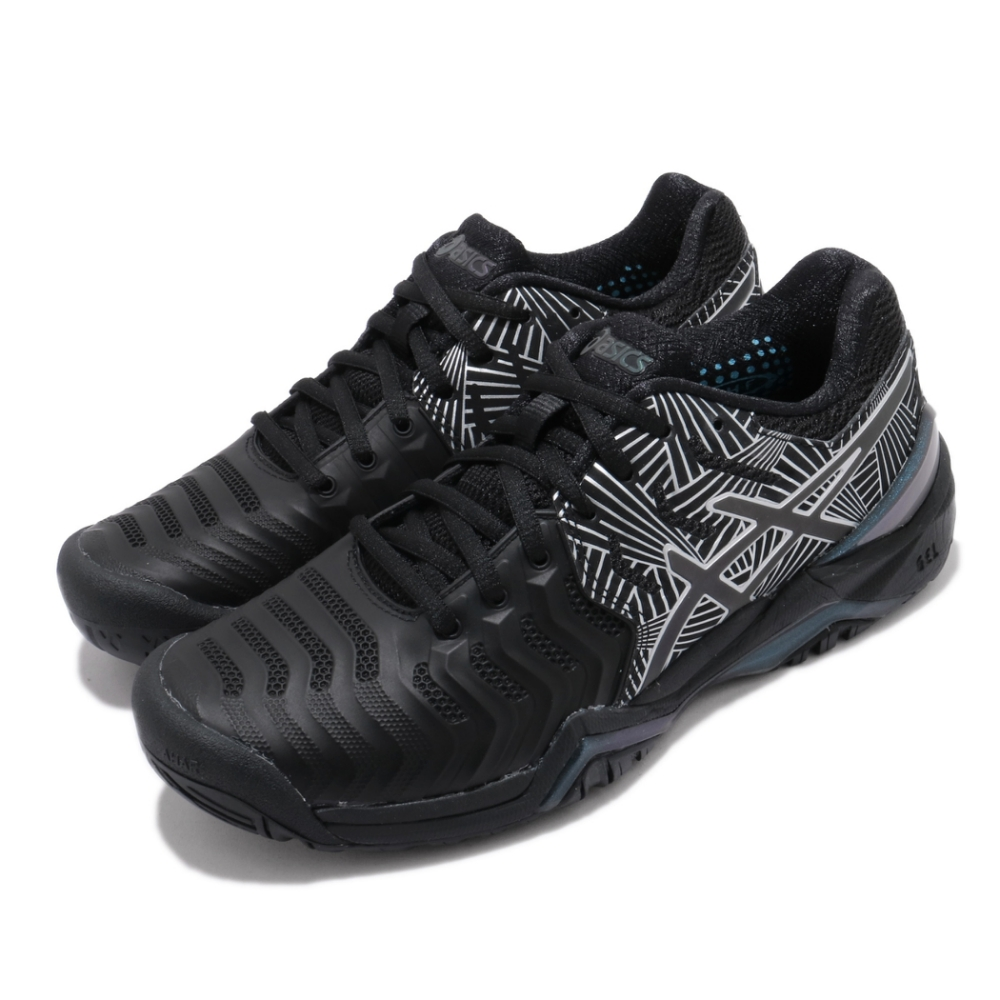Asics 網球鞋 Gel Resolution 7 LE 女鞋 亞瑟士 高階 緩衝 輕量 反光 亞瑟膠 黑 銀 1042A092001