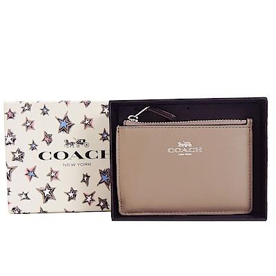 COACH 經典LOGO零錢鑰匙夾(禮盒組)(奶茶)