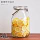日本星硝 日本製醃漬/梅酒密封玻璃保存罐4L(密封 醃漬 日本製)(快) product thumbnail 1