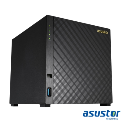 【促銷組合】ASUSTOR華芸 AS3204T v2 網路儲存伺服器+WD 4TB*4