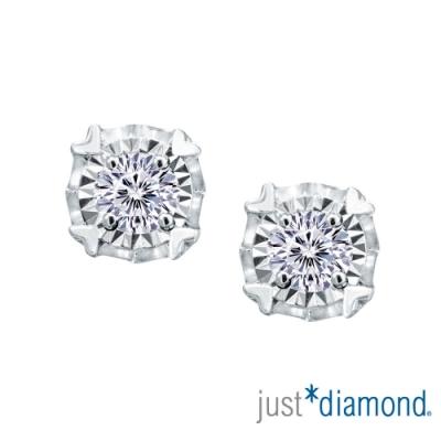 【Just Diamond】Dreamy系列18K金鑽石耳環-愛心款