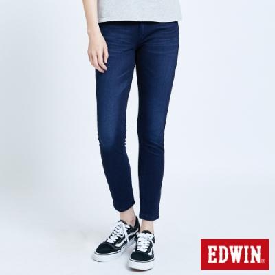 EDWIN JERSEYS 迦績EJ2 棉感窄管牛仔褲-女-原藍磨