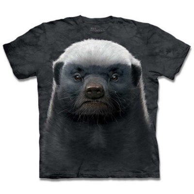 摩達客-美國進口The Mountain 自然純棉系列 蜜獾 純棉環保藝術中性短袖T恤(現貨)