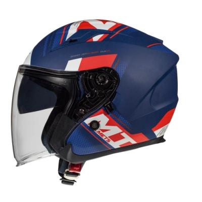西班牙MTHELMETS MT安全帽 AVENUE sv SIDEWAY系列 消光藍紅