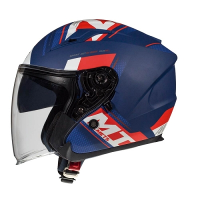 MTHELMETS MT安全帽 AVENUE sv SIDEWAY系列 消光藍紅