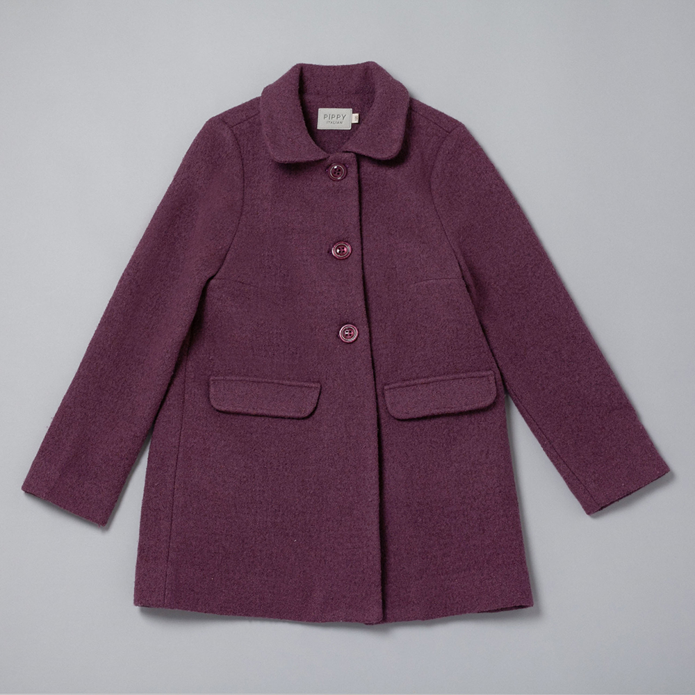 PIPPY 小圓領大衣外套 深紫