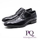 PQ 真皮雕花壓紋造型綁帶皮鞋 男鞋 - 黑(另有棕)