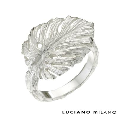 LUCIANO MILANO 浪漫微春純淨純銀戒指