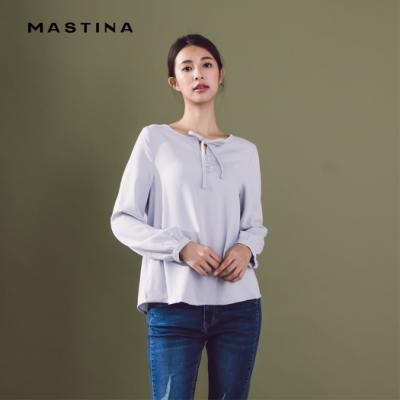 【MASTINA】領口綁結上班族-襯衫(二色)