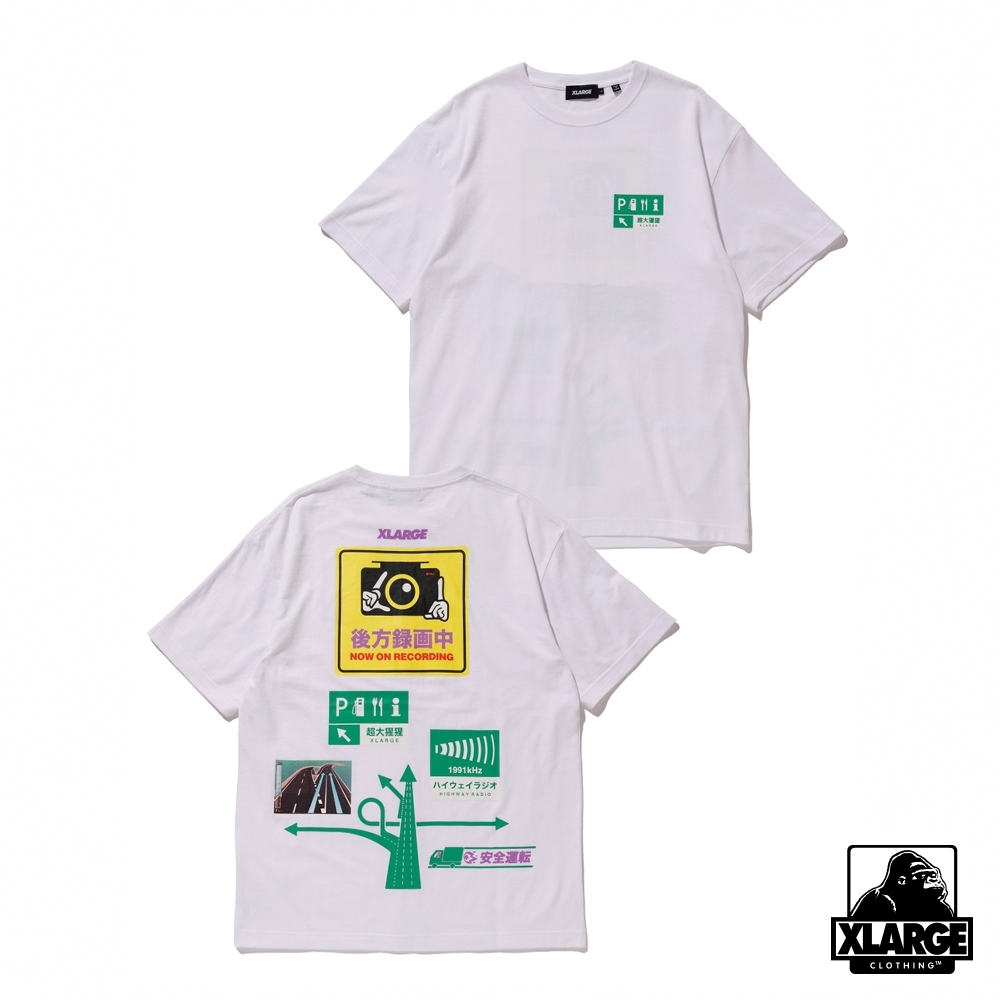 XLARGE S/S TEE SAFETY DRIVE短袖T恤-白