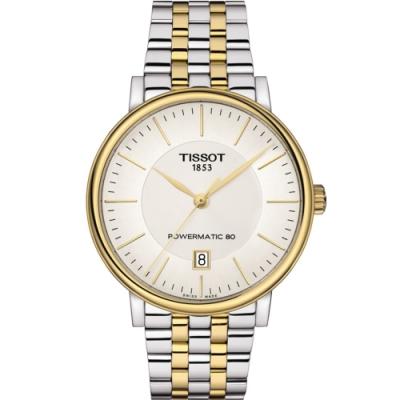 TISSOT CARSON 都會品味紳士機械錶(T1224072203100)40mm