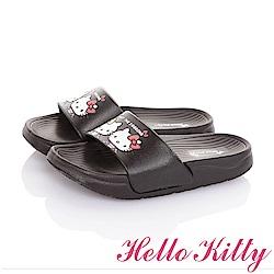 HelloKitty童鞋 雙胞胎系列 極輕量室內外減壓休閒拖鞋-黑